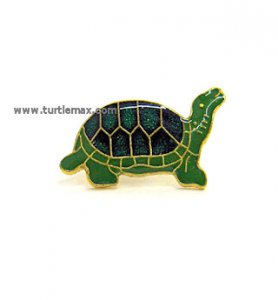 Green Turtle Brass Hatpin