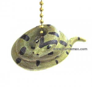 Green Anaconda Snake Fan Pull