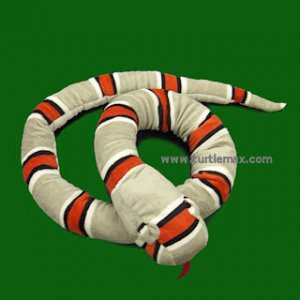 "Giant 67"" Plush Gray Banded King Snake"