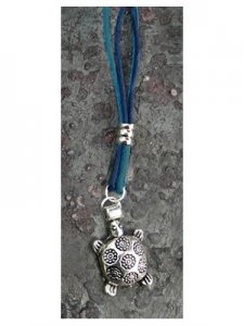 Turtle Silver-plated Corded Necklace