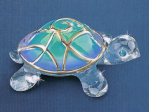 """Tiffany"" Glass Turtle"