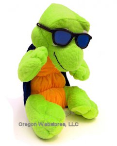 Cool Plush Turtle with Sunglasses