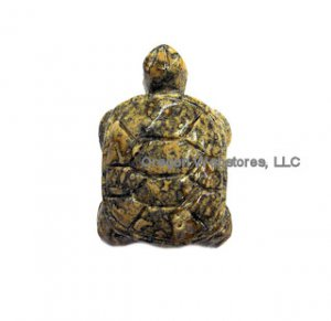 Carved Stone Turtle Charm: Jasper - CREATIVITY
