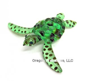 Green Spotted Glass Sea Turtle