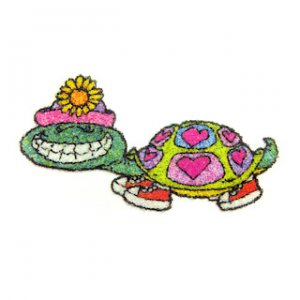 Smiling Turtle Beaded Iron-On