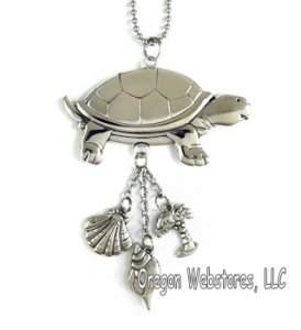 Pewter Turtle Car Charm