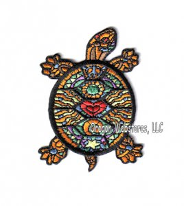 Cosmic Turtle Embroidered Iron-On