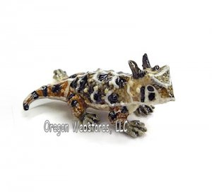 """Rip"" Mini Porcelain Horned Toad"