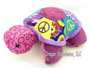 Peace Turtle Fold & Play Pillow