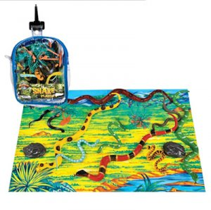 Snake Playset in Zipper Bag (12-pc)