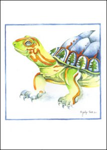 """Turtle's Gift"" Boxed Holiday Cards (10)"