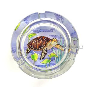 Sea Turtle Glass Ashtray