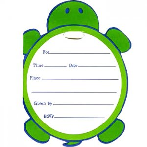 Mr. Turtle: Party Invitations (8)