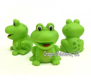 Little Smiling Rubber Frogs (12)