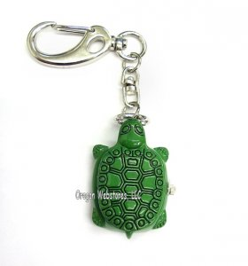 Green Turtle Clip-on Watch Fob