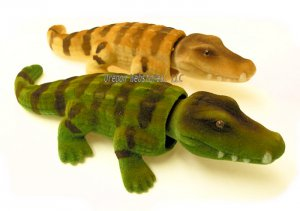 Flocked Bobbleheaded Alligator -  Brown or Green