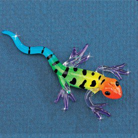 Small Colorful Glass Gecko