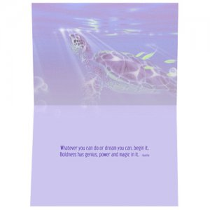 Sea Turtle Dream Inspiration Card