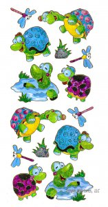 Cute Laser-Cut Mylar Turtle Stickers