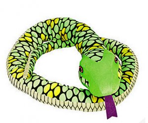 Giant 7-Foot Plush Green Snake