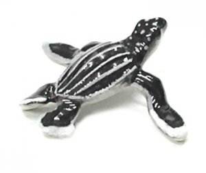 """Migra"" Mini Porcelain Leatherback Sea Turtle"