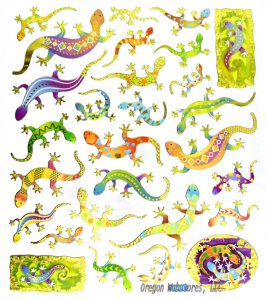 Colorful Shiny Gecko Stickers