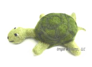 Little Felted Plush Turtle