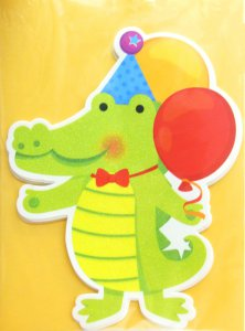 Glittery Alligator Party Invitations, pk/8