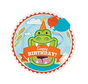 Snappy Alligator Small Party Plates, pk/8