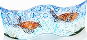 Green Sea Turtle Small Wavy Glass